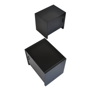 Pair of Ebonized Nightstands by Robert Baron for Glenn of California
