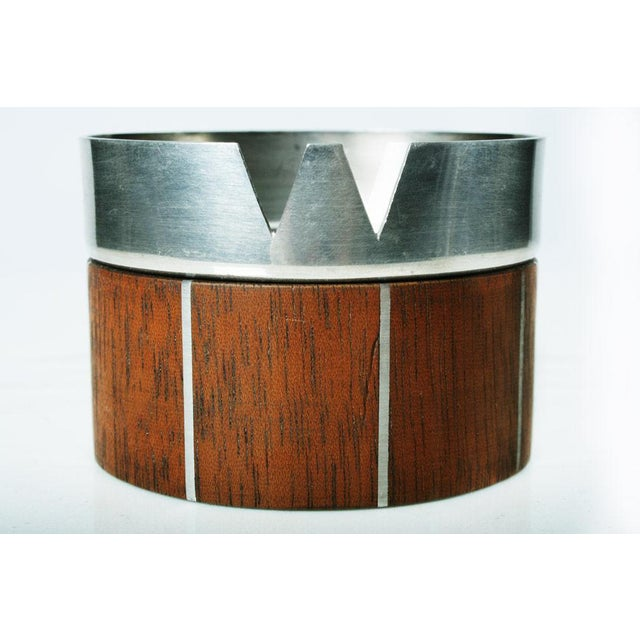 Walnut and Pewter Ashtray by Paul Evans - Image 5 of 7