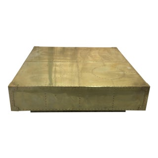 Sarreid Brass Clad Coffee Table