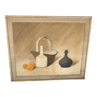 Still Life Oil Painting, Signed, 1980s