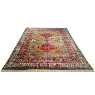 Traditional Bokhara Hand Knotted Rug - 9′ × 12′