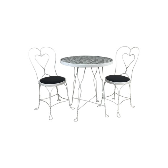 Vintage Restored Ice Cream Dining Set - Image 1 of 6