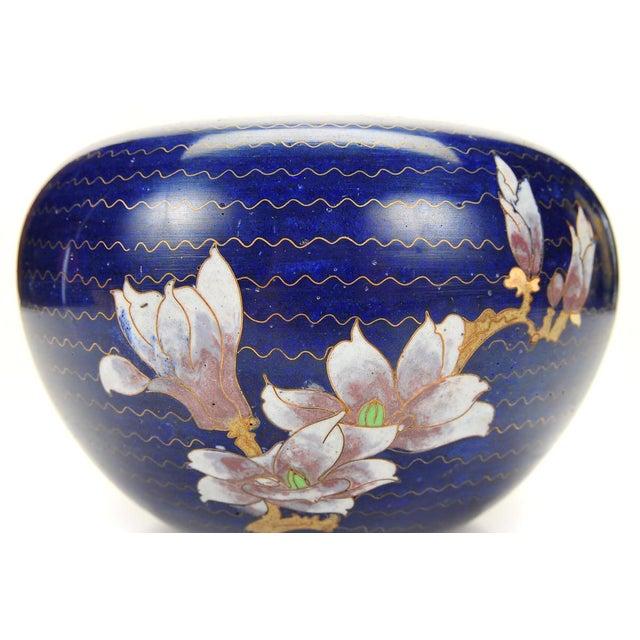 Japanese Antique Blue Cloisonne Vase - Image 6 of 7