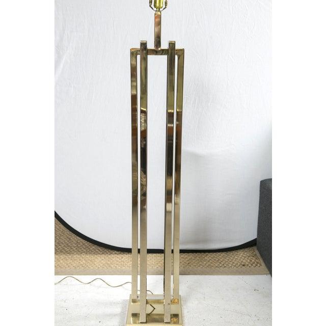 Milo Baughman Brass Deco Floor Lamp - Image 4 of 10