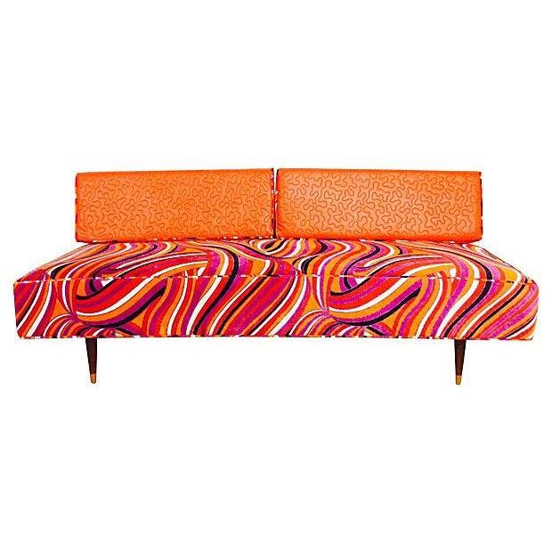 Image of Vintage Mod Upholstered Daybed