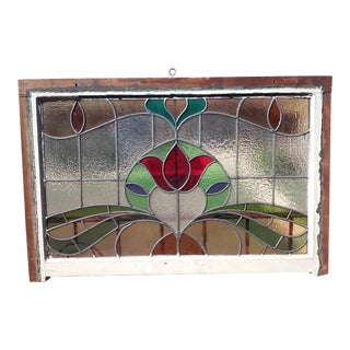 Vintage English Large Stained Glass Window