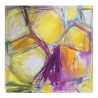 """Honeycomb"" Abstract Oil Painting by Trixie Pitts"