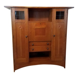 Stickley Mission Harvey Ellis Oak Bookcase with Doors