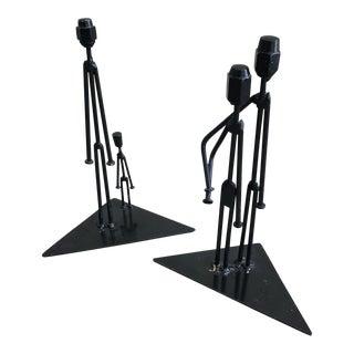 Brutalist Style Sculptures - A Pair