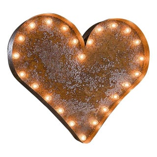 """24"""" Vintage Marquee Heart Light"""