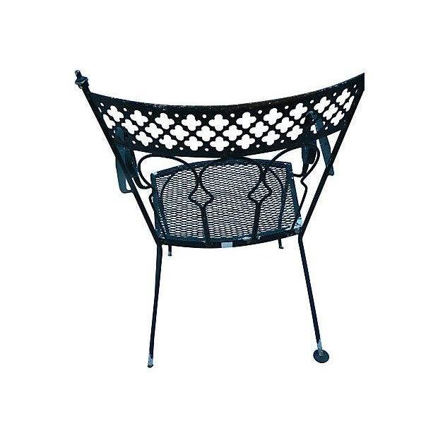 Image of Wrought Iron Garden Chairs - Set of 6
