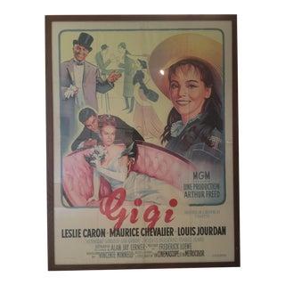 """Original Antique """"Gigi"""" Poster"""