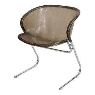 1970's Gastone Rinaldi Cantilever Lucite Chrome Chair