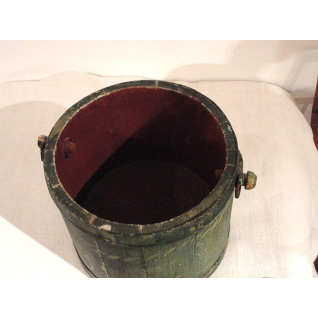 Image of 19th Century Nautical Original Painted and Decorated Water Bucket from NE