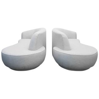 Vladimir Kagan for Weiman Serpentine Style Sofas - A Pair