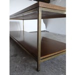 Image of Paul McCobb Mid-Century Brass & Wood Coffee Table