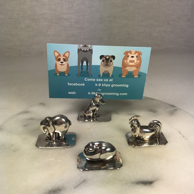 Portugal Silver Animal Place Card Holders - Set of 4 - Image 8 of 10