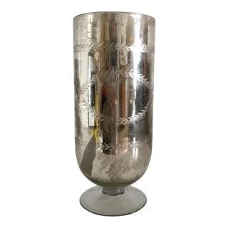 Ralph Lauren Mercury Glass Hurricane