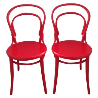 Thonet for Design Within Reach Red Chairs - A Pair