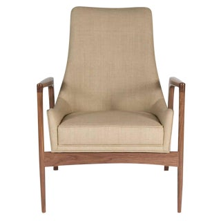 Customizable Warren Walnut Lounge Chair