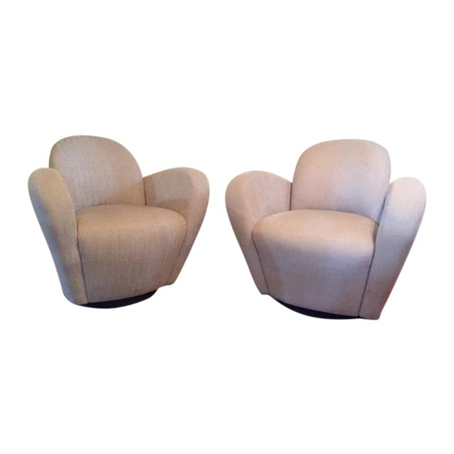 Furniture For Less Miami: Michael Wolk Weiman Miami Swivel Chairs - A Pair