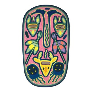 Huichol Indian Shamans Mask Art