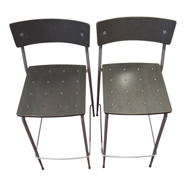 Image of Design Within Reach Bar Stools - A Pair