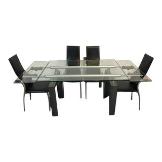 Contemporary Extendable Dining Table With 4 Chairs
