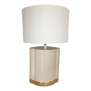 Gold and Beige Ceramic Table Lamp