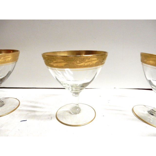 Gold Rimmed Coupes - Set of 5 - Image 4 of 4