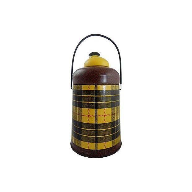 Image of 1950s Yellow Plaid Pelican Beverage Cooler
