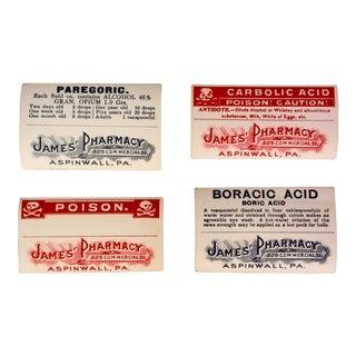 Antique Medicine & Poison Pharmacy Labels