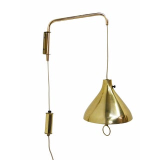 Mid-Century Adjustable Brass Wall Lamp