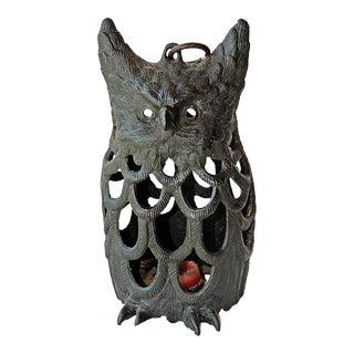 Cast Iron Owl Lantern