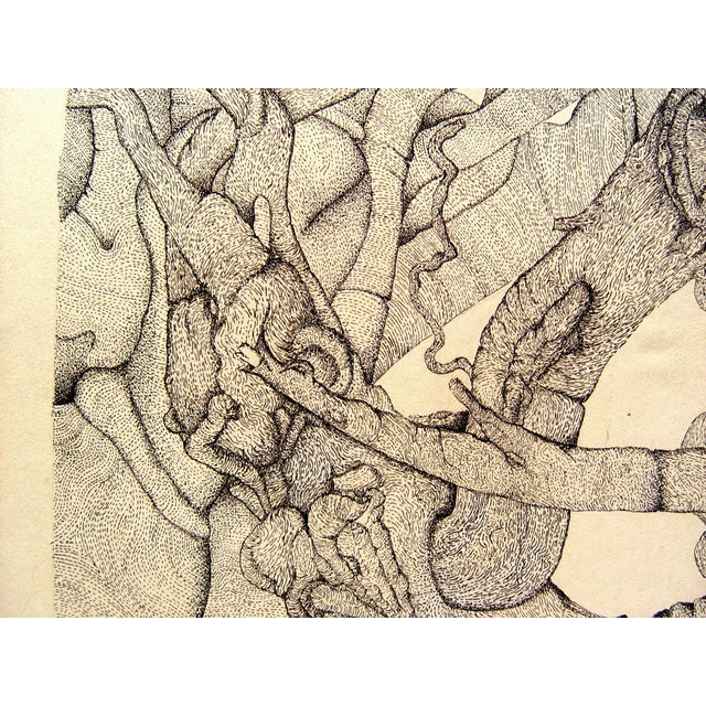 Abstract Tangle Pen & Ink - Image 2 of 2
