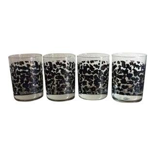 Nicole Miller Leopard Low Ball Glasses - Set of 4
