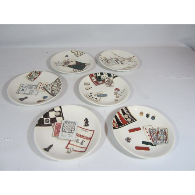 Gien france canape plates set of 6 chairish for Canape plate sets