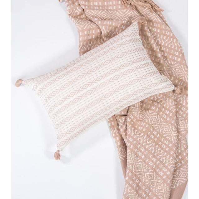 Image of Blush Handwoven Mexican Pillow