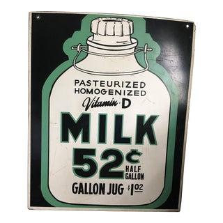 Antique Milk Sign
