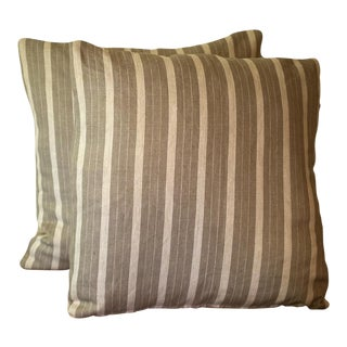 Rogers & Goffigon Linen Striped Pillow Covers - a Pair