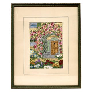 Vintage Silk Hand Embroidered Artwork