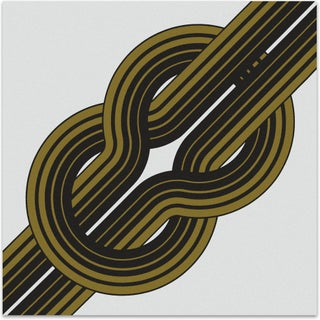 1970s Serigraph - Bold Gold Knot