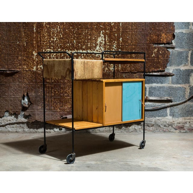 Image of Vintage Arthur Umanoff Rolling Bar Cart