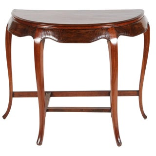 Chinese Rosewood Demilune Table