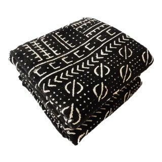 Mali Black & White Mud Cloth Fabrics - A Pair