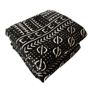 Mali Black & White Mud Cloth Fabrics - A Pair