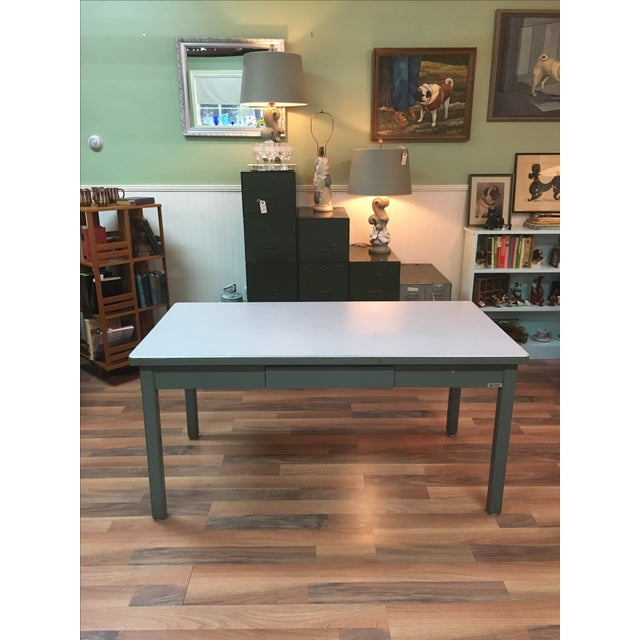 Mid-Century Haskell of Pittsburgh Industrial Table - Image 2 of 9