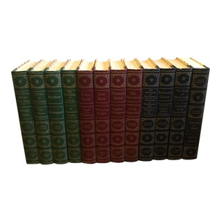 Classic Authors Decorative Vintage Books - Set of 12