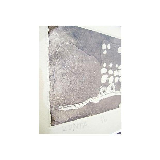 Framed Circular Abstract Print - Image 4 of 6