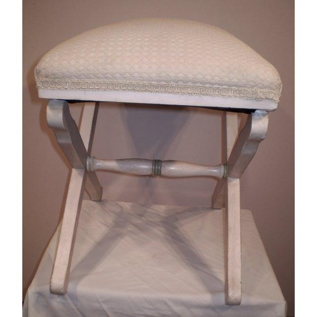 Upholstered X-Base Stool - Image 3 of 4